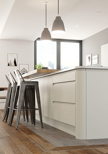 modern handleless kitchen cheshire