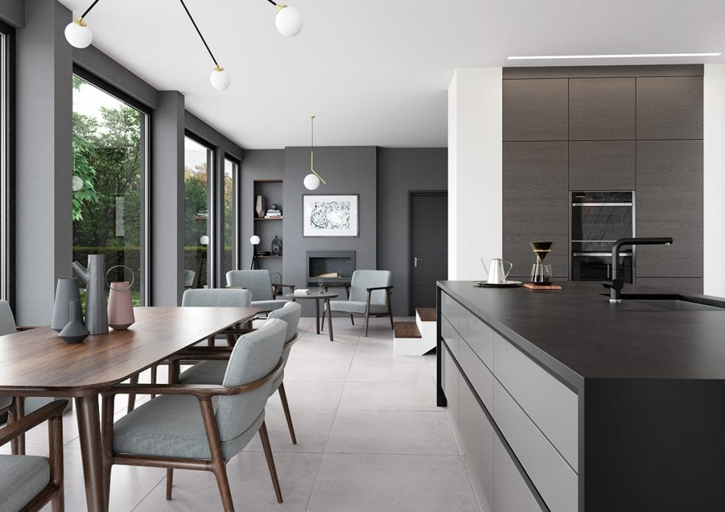 Handless kitchen cupboards by Grappenhall Kitchen Company